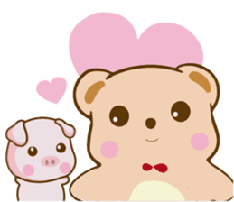 Bear and Piggy ''Cute sticker #9615501