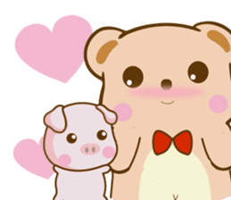 Bear and Piggy ''Cute sticker #9615502
