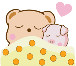 Bear and Piggy ''Cute sticker #9615503