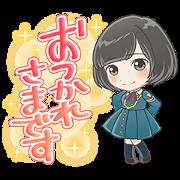 สติ๊กเกอร์ไลน์ Keyakizaka46 Cartoon Style Stickers