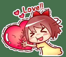 Too love you Sticker English sticker #9629811
