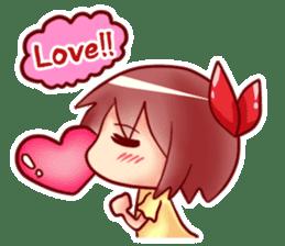 Too love you Sticker English sticker #9629820