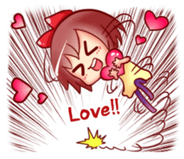 Too love you Sticker English sticker #9629828