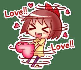 Too love you Sticker English sticker #9629829