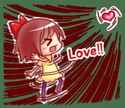 Too love you Sticker English sticker #9629830