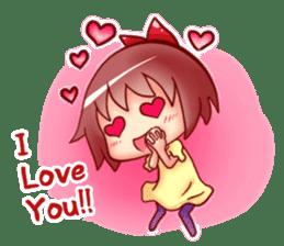 Too love you Sticker English sticker #9629839