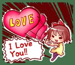 Too love you Sticker English sticker #9629842