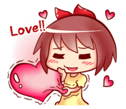 Too love you Sticker English sticker #9629844
