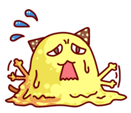 "Cheese Cat ""Cherish""Sticker English sticker #9630128"