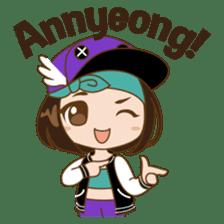 Chibi Korean Girl sticker #9630888