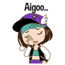 Chibi Korean Girl sticker #9630889