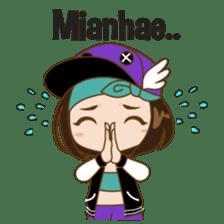 Chibi Korean Girl sticker #9630897