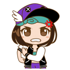 Chibi Korean Girl sticker #9630906