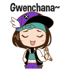 Chibi Korean Girl sticker #9630910