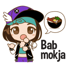 Chibi Korean Girl sticker #9630911