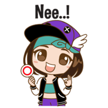 Chibi Korean Girl sticker #9630912
