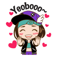 Chibi Korean Girl sticker #9630914