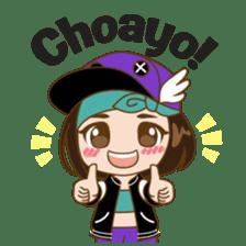Chibi Korean Girl sticker #9630917