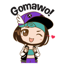 Chibi Korean Girl sticker #9630922