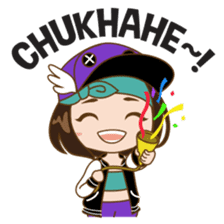 Chibi Korean Girl sticker #9630924