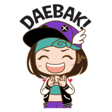 Chibi Korean Girl sticker #9630926