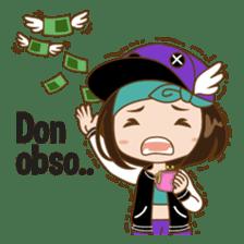 Chibi Korean Girl sticker #9630927