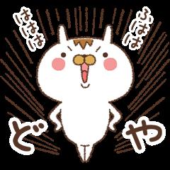 Because the rabbit[Kansai dialect]