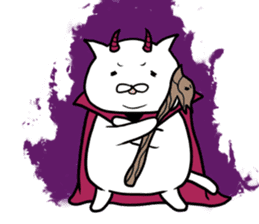 Cat devil and scary Butler Sticker. sticker #9646289