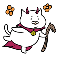 Cat devil and scary Butler Sticker. sticker #9646296