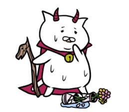 Cat devil and scary Butler Sticker. sticker #9646298