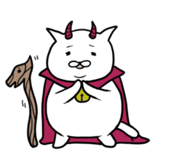 Cat devil and scary Butler Sticker. sticker #9646303