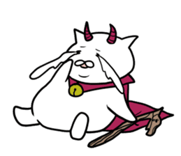 Cat devil and scary Butler Sticker. sticker #9646307