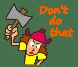Lady Viking sticker #9655146