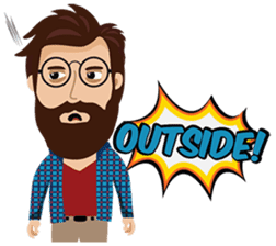 Mr. Hipster sticker #9658024