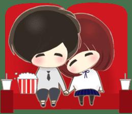 lovely couple sticker sticker #9667360