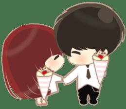 lovely couple sticker sticker #9667362