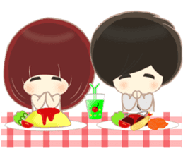 lovely couple sticker sticker #9667365