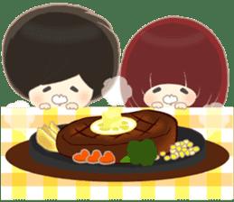 lovely couple sticker sticker #9667366