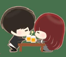 lovely couple sticker sticker #9667369