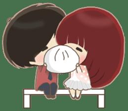 lovely couple sticker sticker #9667377