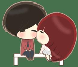 lovely couple sticker sticker #9667378