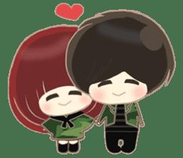 lovely couple sticker sticker #9667384