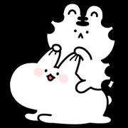 สติ๊กเกอร์ไลน์ Mini Wanga & Huhu