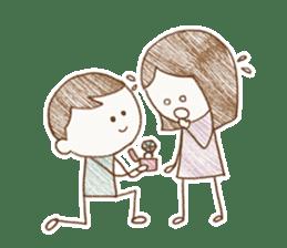Sketch Of Love By Junica Sticker 9692620