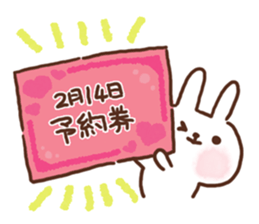 lovey-dovey rabbits sticker #9705769