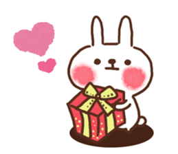 lovey-dovey rabbits sticker #9705772