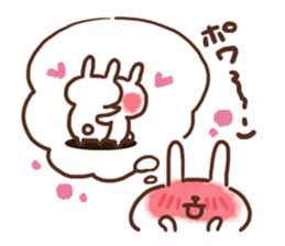 lovey-dovey rabbits sticker #9705776