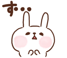 lovey-dovey rabbits sticker #9705777