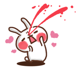 lovey-dovey rabbits sticker #9705785