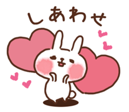 lovey-dovey rabbits sticker #9705786